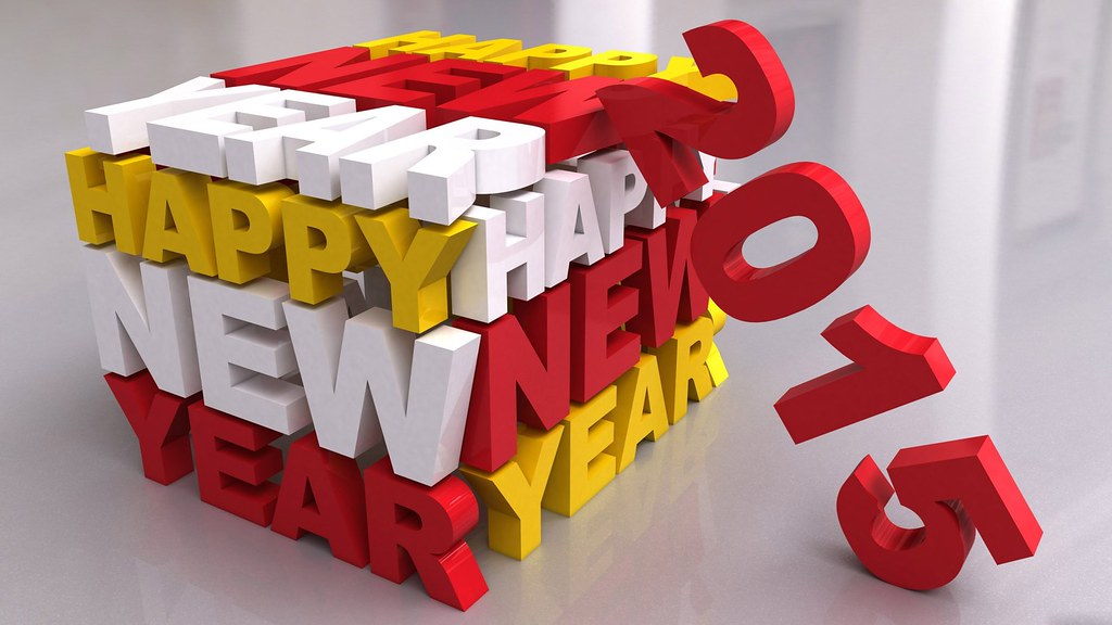 Happy New Year 2015 3d Rectangle Hd Wallpaper Stylish Hd Flickr