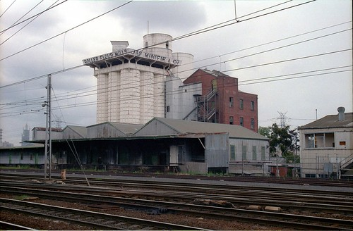 Lennon St 001 James Minifie flour mill complex from Childers St, Flemington-Kensington 1984 sheet 68  34