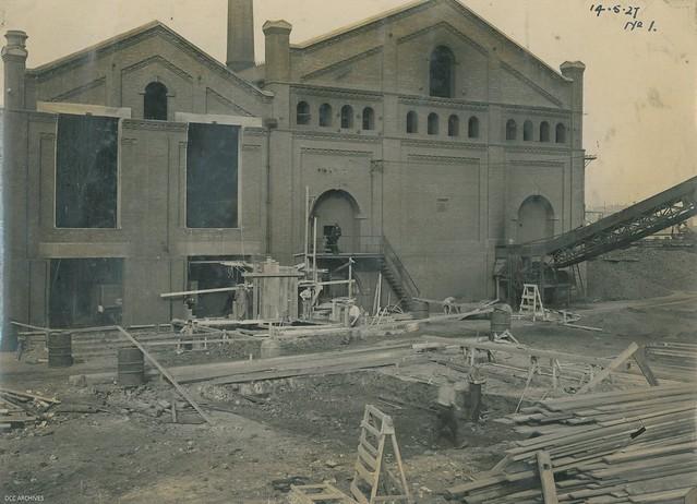 Vertical Retort Installation in progress, Dunedin Gasworks, 1927
