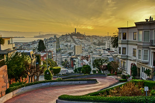San Fran sunrise from Lombard Street-1 | by G Earnshaw photographic art