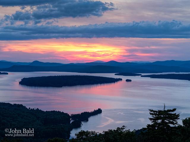 Mooselookmeguntic Lake in the Last Light of Day, Rangeley, Maine (63430)