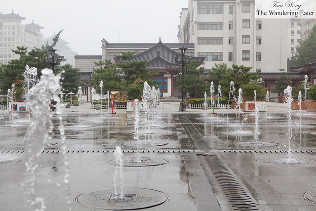 Fountains at the center of Xian