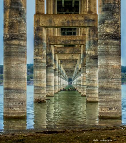 bridge sky southwest water river point concrete texas land column vanishing lampasas