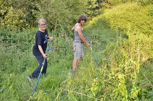 Klein-Zwitserland: vrijwilligers aan het werk