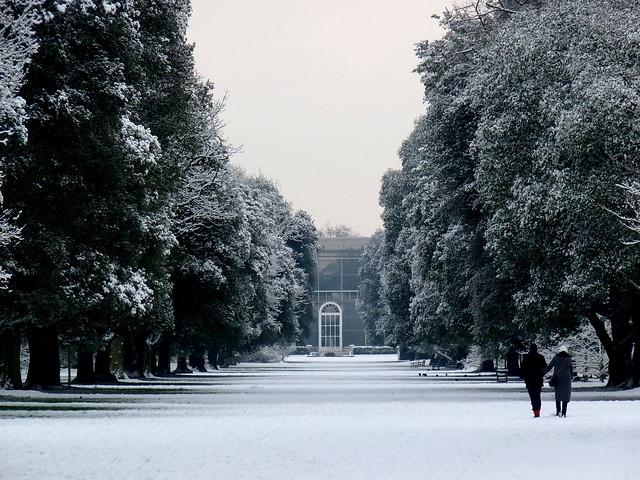 Kew Gardens in the snow