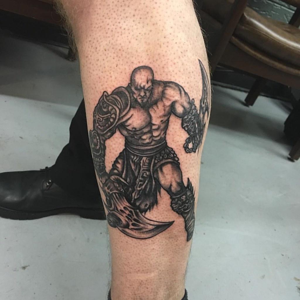 Kratos Godofwar Playstationtattoo Got My First Tattoo T