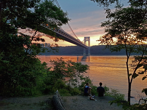 Sunset by the George Washington Bridge | by CucombreLibre