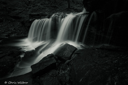 water white monochrome black long waterfall falls exposure area wilderness lower gorge monotone spencer dundas tews