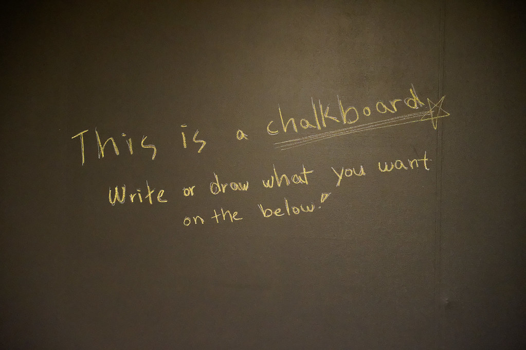 This is a chalkboard