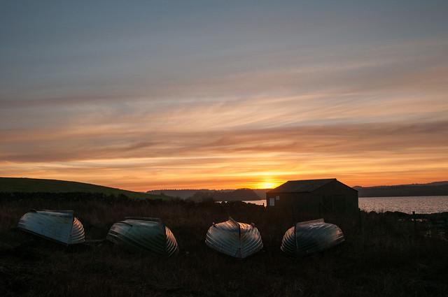 Loch Ochiltree sunset.