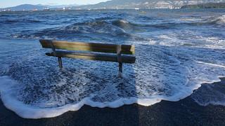Rising Seas at Kitsilano Beach, Vancouver