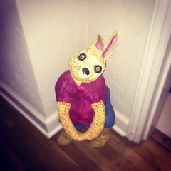 Creepy bunny...: yikes. Stay on its good side.