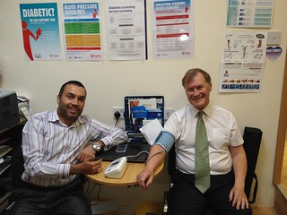 David Amess MP raising awareness about blood pressure | by AmessD