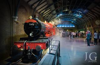 Hall Class No. 5972 'Olton Hall' as 'Hogwarts Castle' - Warner Brothers Studio, London