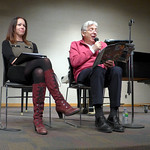 Author Roch Carrier reading The Hockey Sweater at Hamilton Central Library with composer Abigail Richardson-Schulte (2)