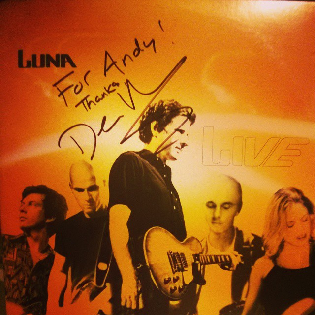I've often bored friends and acquaintances with the story of getting a signed copy of Luna Live #luna #lp #vinyl #ahfow