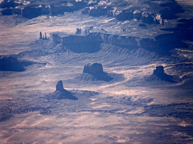 Monument Valley from way up