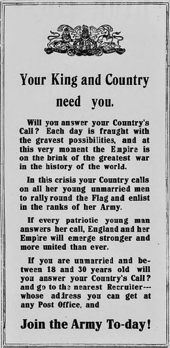 6th August 1914 - Your King & Country Need You | by Bradford Timeline