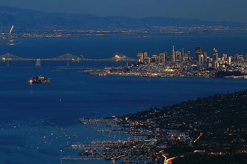 sanfrancisco california usa marin bluehour