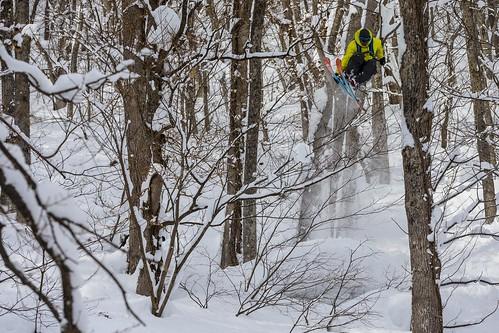 Andy Mahre esquiant a Kiroro