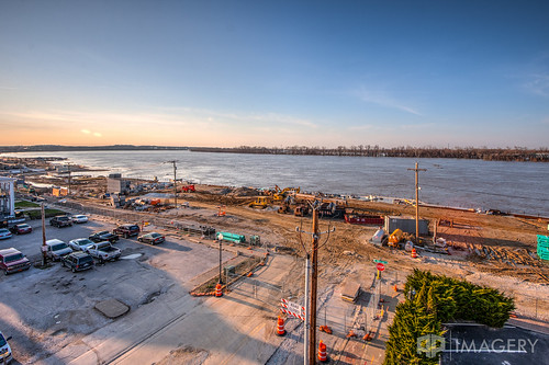 park sunset ohio history river construction downtown waterfront kentucky ky before owensboro prior revitalization smothers