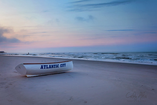 nikon nikon2470mmf28g nikond750 atlanticcity atlantic newjersey nj landscape waterscape water sea boat sunrise sky clouds dreamy beach findingthelight topaz topazsimplify4 cathyalba cathyalbaphotography