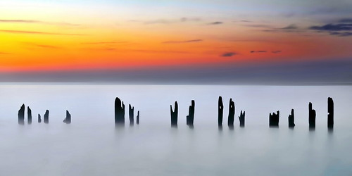 longexposure ontario colors dawn skies lakeerie smooth greatlakes posts simple shores hieroglyphic minimalizm erieau chathamkent