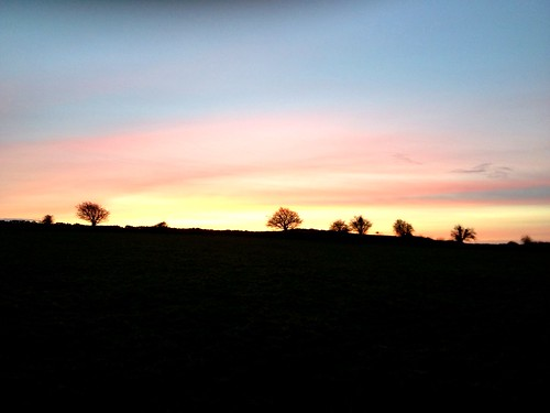 pink blue trees ireland sunset red sky orange black galway nature field wall evening loughrea masonbrook