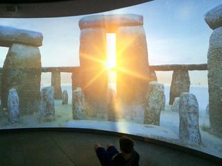Stonehenge at midwinter sunset