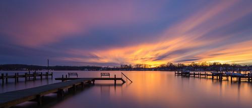 longexposure sunset pier middleriver
