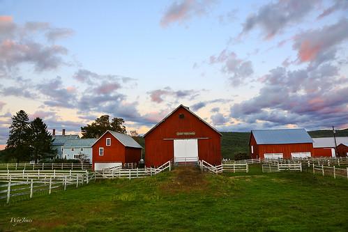 trees sunset house clouds barn fence twilight vermont farm np cloudscape sheds putney sweettreefarm wyojones
