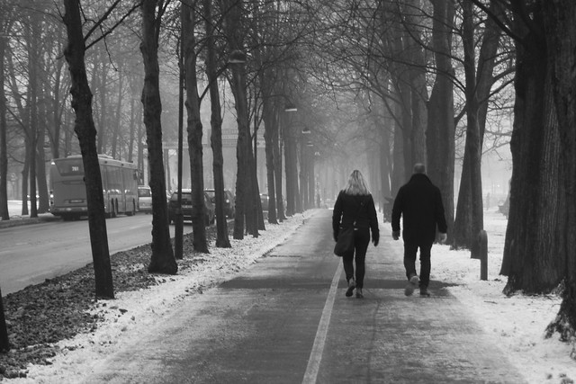 Walk into the haze