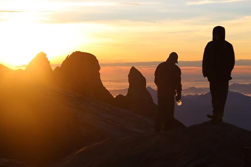 mountain rock sunrise top donkey peak mount ear kinabalu granit