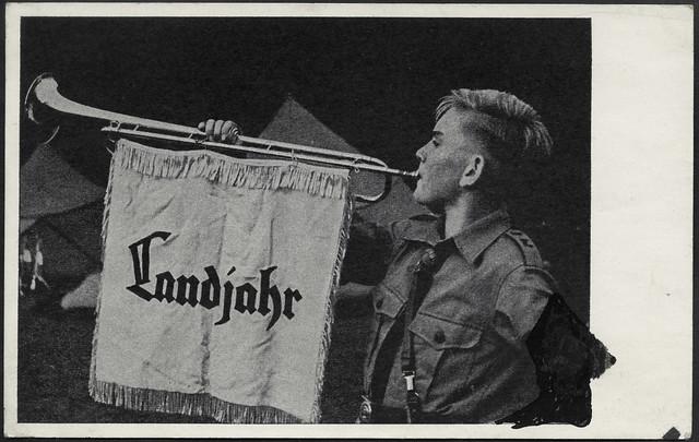 Archiv E958 Landjahreinsatz Werbepostkarte, 1939