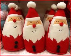 Santas on a Shelf ..