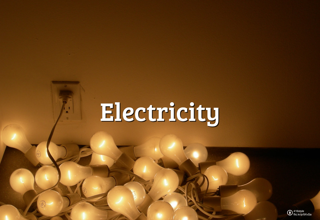 Flickr Friday: Electricity | It's electrifying! The energy that not only lights the bulbs of each home, shop, gas station or street, but the entire world.