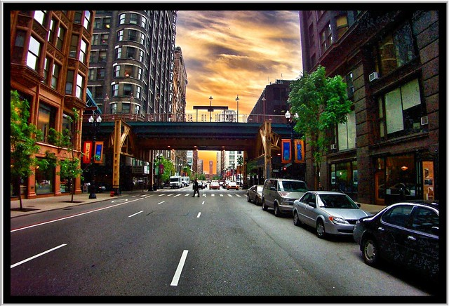 Chicago Il   ~ Looking South to Printers Row  ~  Loop ~ Historic Distict