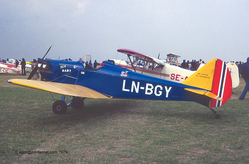 LN-BGY - Bowers Fly Baby 1A, at the 1979 PFA Rally at Leicester   by egcc