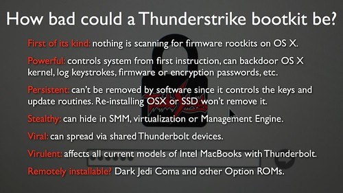 Thunderstrike presentation at 31C3