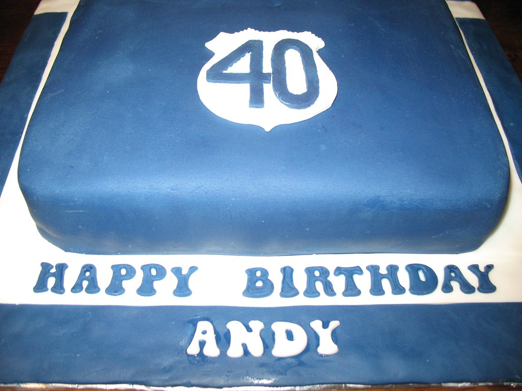 40th Birthday Cake For An Everton Fan
