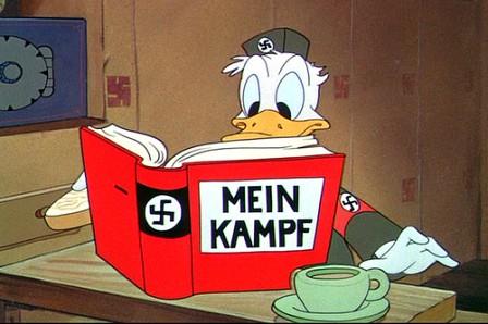 Pato Donald caracterizado como nazi
