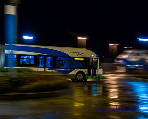 Photographing a Departing Community Transit SWIFT Bus