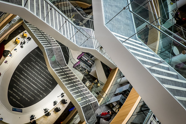 Abstract Stairways Liverpool Central Library.