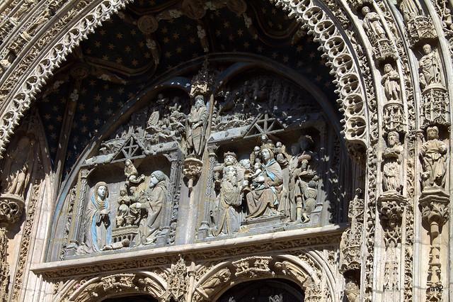 Tímpano Iglesia Sta. María.Aranda del Duero. España