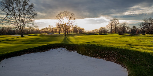 county sunset green grass club golf oakland birmingham michigan country bunker pure