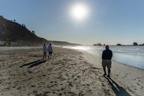 sea newzealand christchurch sky people sun beach water spring sand shadows pacificocean sumner