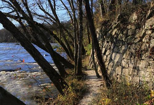 Bean Shoals Canal Trail. Yadkin River, NC.