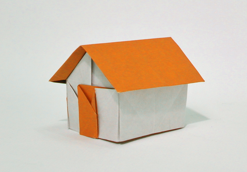 ORIGAMI HOUSE | Gable roof house from one uncut paper. It fa… | Flickr
