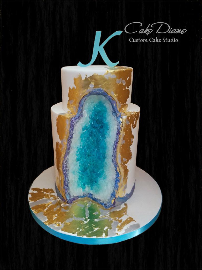 Tiffany Blue Agate Geode