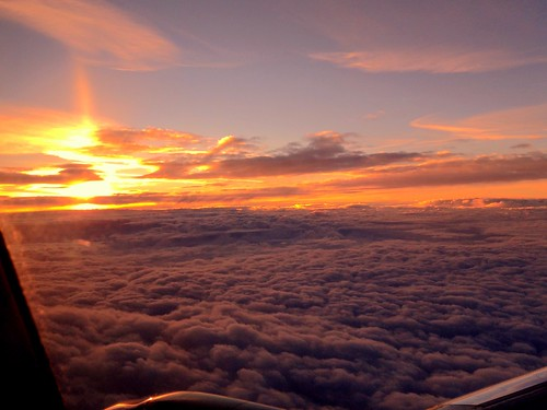 sunset sky window clouds plane airplane view flight pw